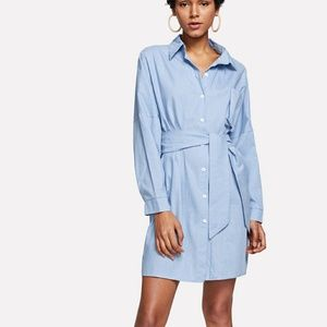 Denim - New Pocket Bow Tie Front Denim Dress